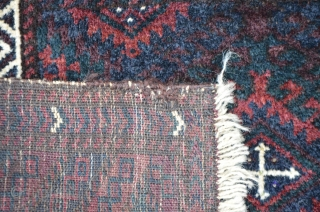 Very fine Baluch bagface, 56 x 44 cm, soft shining wool.