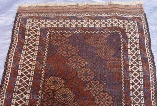 "Antique Balouch rug, 2'10"" x 4'9"" ft. / 66 x 145 cm."