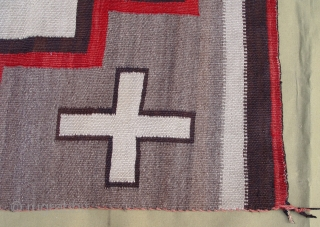 "Antique Native American Navajo Indian wool rug, 3'6"" x 4'10"" ft. no holes, no color run, no stains, wonderful condition."