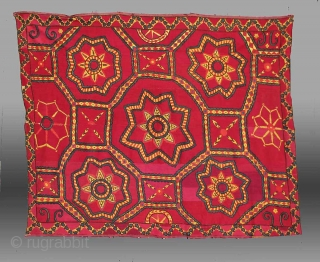 "Uzbek Suzani, Central Asia, 19th Century, 7' 5"" x 5' 10""