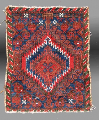 "Baluch Bag Face (fragmented), SE Persia(?), 19th century, 1'8"" x 2'4""