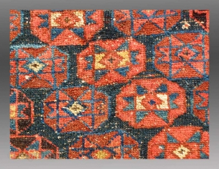 """Afshar Rug, SE Persia(?), 19th century, 4' 2"""" x 5' 3"""",  $1500  An extremely unusual example of Afshar tribal weaving, possibly from SE Persia, but it is not certain. The rug is  ..."""