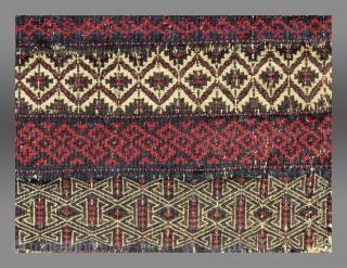 """Baluch Salt Bag, NE Persia, 19th C., 1'5"""" x 1'7""""  Please inquire for further information/details"""