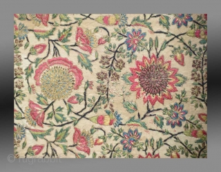 """Bhajoth (cushion) for a deity in a Vaishnavite shrineGujarat, India, circa 1800, 60 x 50 cm (23¾"""" x 19¾""""), silk embroidery on cotton  Please inquire for further details/information"""
