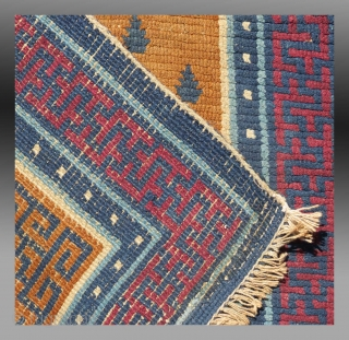 """Khaden"", Central(?) Tibet, late 19th C., 2'7"" x 4' 6""