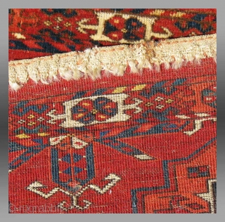 """Tekke Turkmen Torba, Central Asia, 19th Century, 3' 6"""" x 1' 6""""  The six gol torba format is perhaps one of the more common forms seen among extant Tekke weavings.  They were  ..."""
