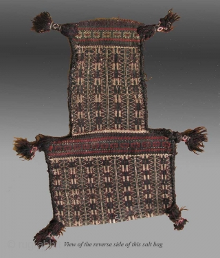 Baluch Salt Bag, SE Persia/SW Pakistan, 19th Century, 1' x 1' 8