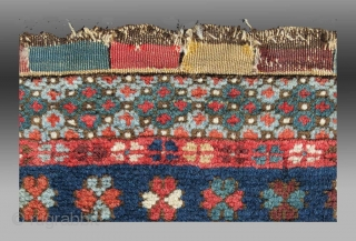 """Shahsevan / Kurd( ?) Bag Face, NW Persia, 19th C., 1'8"""" x 1'6""""  Good colors, repair on bottom border/left corner (see detail images)  Please inquire for further details/information"""