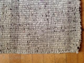 Tibetan Warp-faced back ( wang-den ) saddle carpet.  Late 19th Century. Excellent burgundy colour. 26 x 51 inches