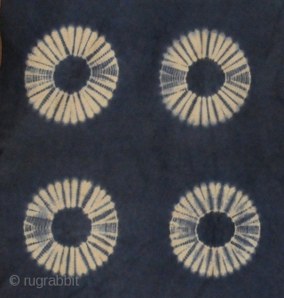 Resist dyed felt,