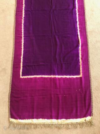 Beautiful ceremonial shawl - Lawon, Palembang-Sumatra. Material: silk, metal twine. Size: 218x75cm. Early 20th c. Item: Bls51. www.tinatabone.com