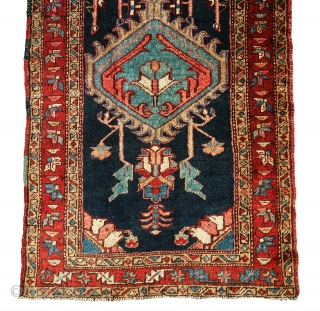 "Extremely gorgeous and rare serapi/heriz runner in full pile without having any problems, all colors are natural, full pile all over. Size is 13'-10""x3'."