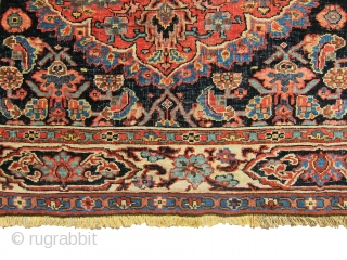 """Very gorgeous, antique Bidjar rug, full pile, and it was made with wool on wool foundation. Great border design. size 3'-7""""x4'-7""""."""
