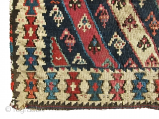 Very old, colorful, antique Shahsavan killim bag, it has very old back killim, very gorgeous piece in bargain price.