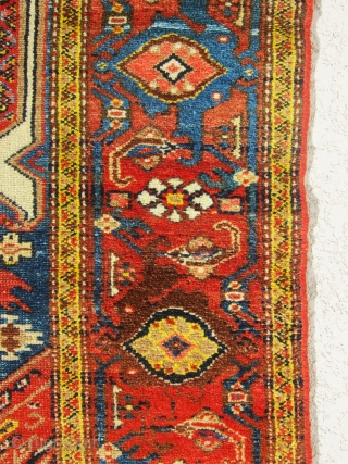"Very nice and antique Hamedan rug, the weave is really fine and the colors are very beautiful. size 6'-3""x3'-7""."