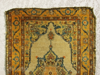 Very old, rare, small, lovely antique real haj jalili Tabriz rug. great condition and very fine weave.