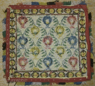 Antique Swedish cross stitch on linen, no: 196, size: 34*37cm.