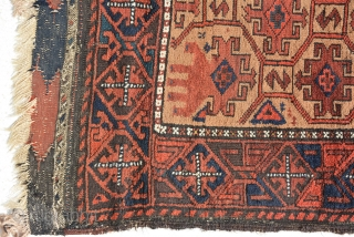 An Exceptional Baluch Double nishe prayer rug.