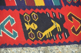 Large Antique sarkoy kilim 16 m2