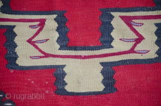 Antique large late 19th century Sarkoy Pirot kilim with nice central medallion. Needs repairing.
