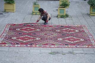 Very large (16 m2) Sarkoy kilim