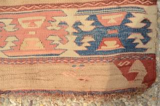 Antique mid.19th century tribal saf kilim runner Enjoy
