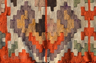 One of the most beautiful Vojvodina kilim I have seen, splendid colors, bordjalu like border. 19 th century.  Available in online auction /30th November - 14th December/ Catalog is available at the  ...