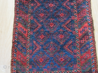 "Baluch balisht - Fine wool with saturated natural colors.Circa 1900 -1920s size: 30"" X 20"" -- 76 cm X 51 cm"