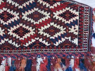 "Turkmen yomud small size asmalyk, original condition. circa late 19th, size:30"" X 15.5"" -- 76 cm X 40 cm"