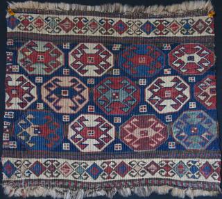 "Shahsavan sumak mafrash end panel. size: 18"" X 15"" -- 46 cm X 38 cm"