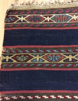 Shahsavan kilim warp silk and cotton size 180x90cm