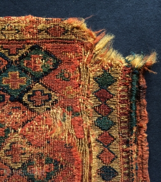 Very old Kurdish Shahsavan bag size 33x30cm