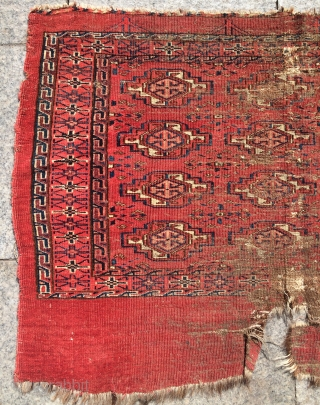 Yamud chuval 1860s very fine quality and all colors natural dyes size 70x112cm