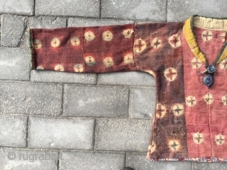"# 1805, Tibet felt frock. Women lama wear, good age and condition. size( 180x67cm), (70x26"")"