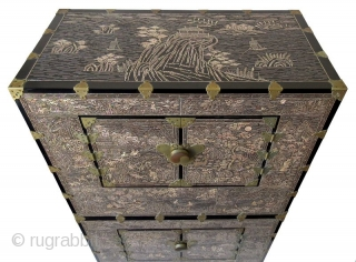 Rare Set of Korean Inlaid Ichung Nong Stacking Chests