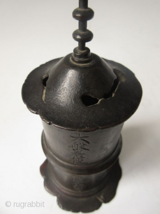 Antique Japanese Bronze Sutra Container