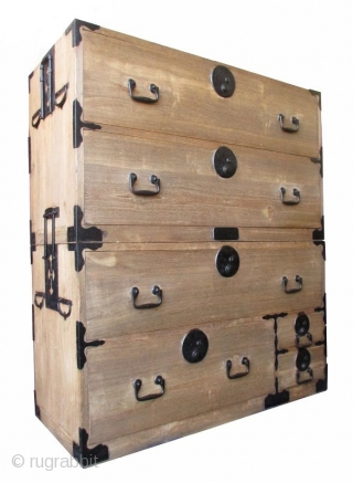 Japanese Antique 2-section Kiri Isho Tansu