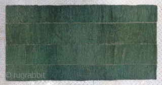 "No.R038 * Tibetan Antique Rug ,Age: Late 19th Century Size: 76x156cm(2'6""x5'1""). Origin: Tibetan.Shape: Rectangle. Background Color: Greens , This is a great Tibetan looped bedding rug. It was constructed by nomadic Tibetans  ..."