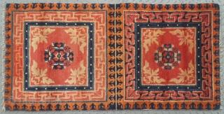 "No.L17 * Chinese Antique Mat-Rug(Runner), Origin: Baotou-Suiyuan Shape: Rectangle Age: 19/20th Century Size: 66 x 134cm( 2'2"" x 4'5"" )"