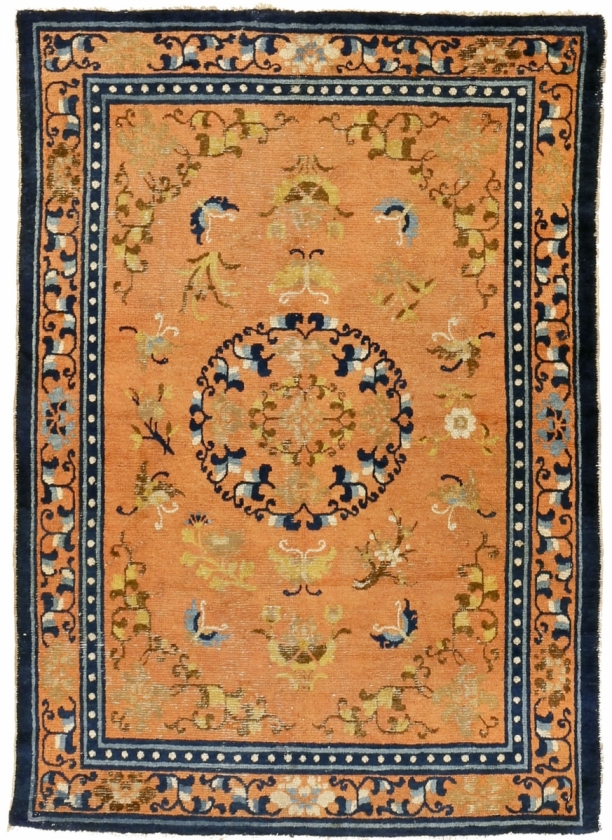 13. Ningxia rug with floral medallion