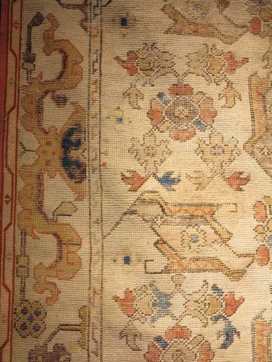 Bird Ushak rug lot 48