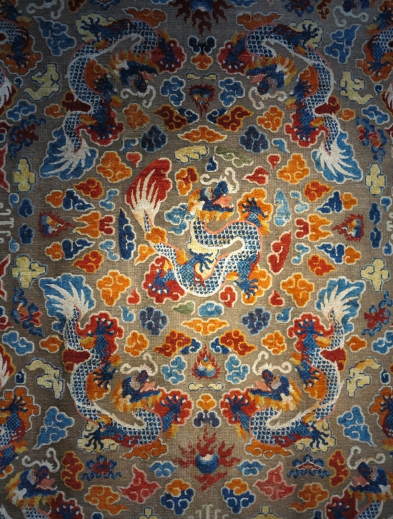 silk and metal-thread Chinese carpet