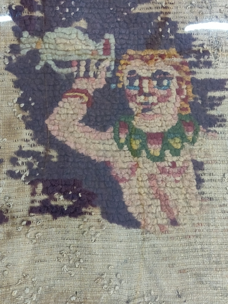 V&A Textiles at Blythe House, London, Egyptian 'Coptic' looped pile