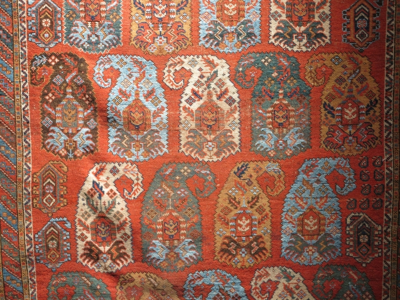 Artful Weavings Peter Pap: Corwin Afshar with blue cotton