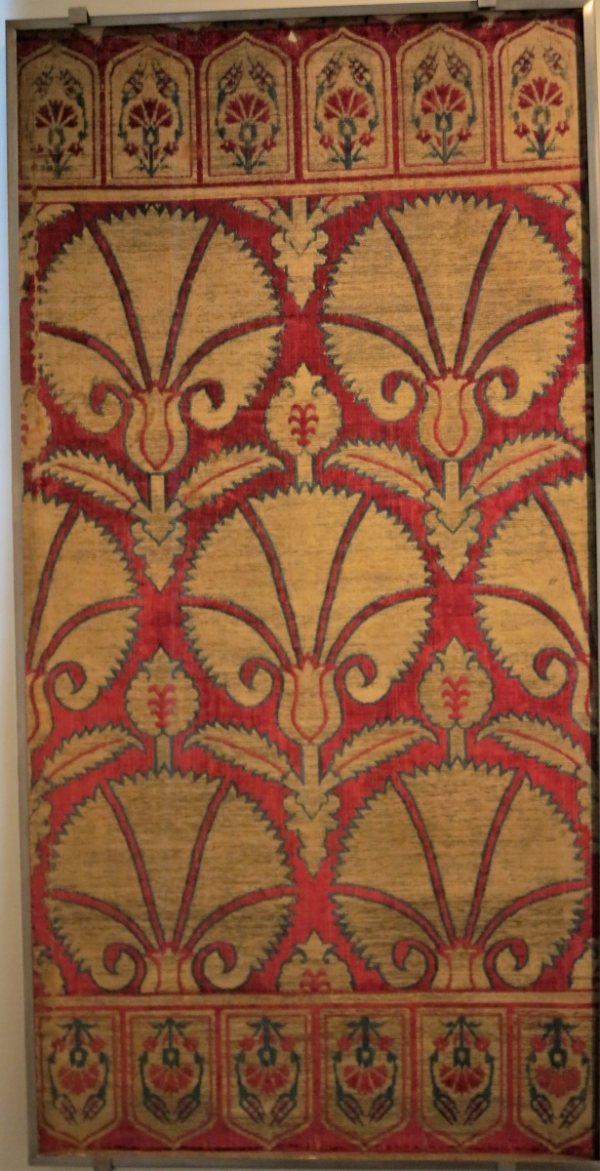 17th century Ottoman Turkish velvet yastik